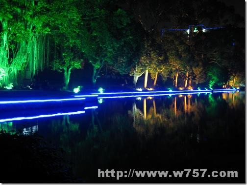 福州西湖公园夜景